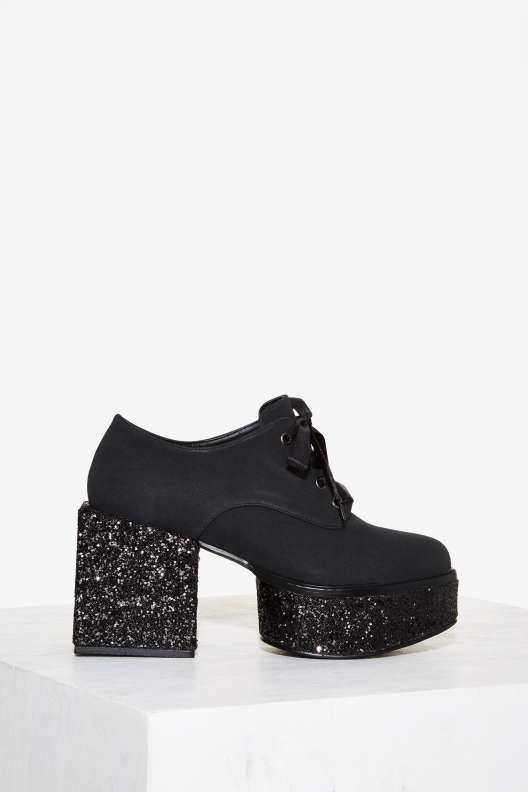YRU Wednesday Glitter Platform - Shoes