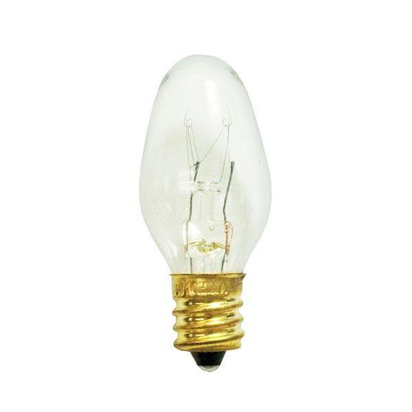 7w C7 Nite Lite Clear E12 120v Night Light Case Of 25 Night
