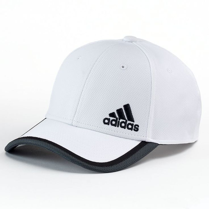 Adidas Fitted Baseball Cap - Men, Size: L/XL, White