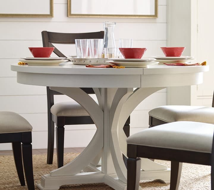 Charming Everyday Dining Collection: Round To Oval Pedestal Table U2013 Sea Salt Photo Gallery