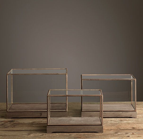 RH: Specimen Display Case Rectangle (MSRP $129-159) Bookshelf/Hallway Decor