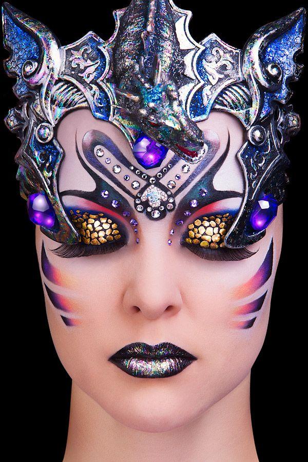 .Dramatic Makeup, Fantasy Makeup, Art Journals, Halloween Makeup, Makeup Art, 3D Art, Eye Art, Face Art, Face Painting