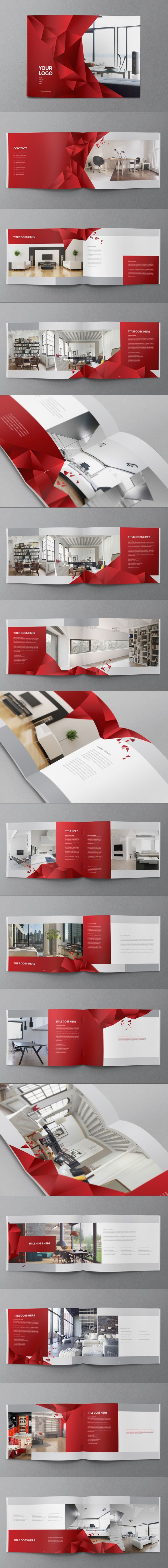 Interior Design Brochure by Abra Design, via Behance