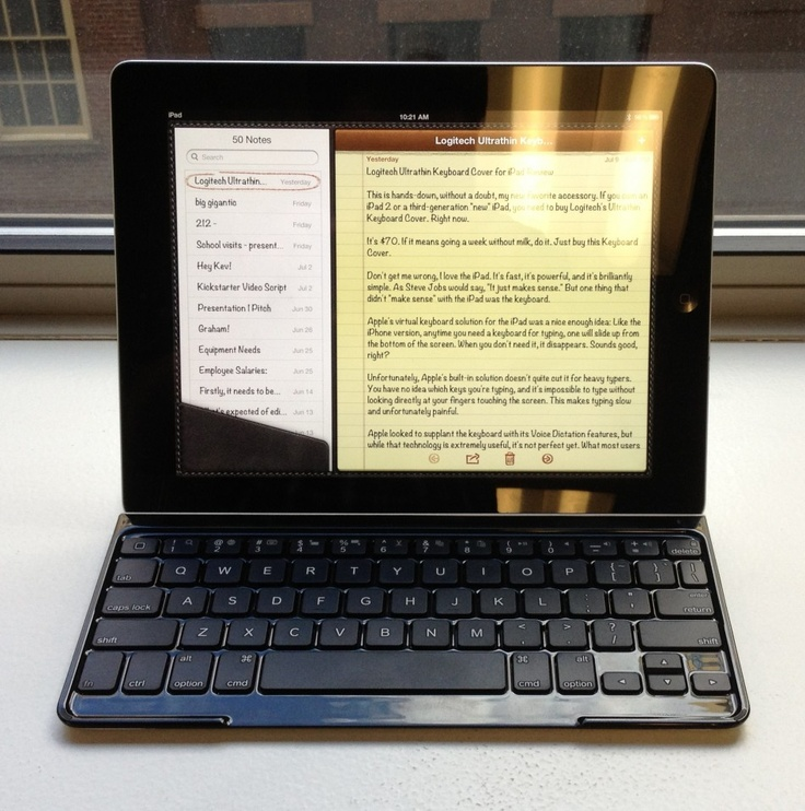 The Best Apple iPad Accessory Ever: Meet The Ultrathin Keyboard Cover From Logitech via International Business Times
