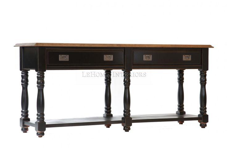 Консоль  Keywest Console Table. Классическая консоль, выполненная по мотивам  тенденций в дизайне Франции 19 века. Поддерживается колоннадой из 6-ти ножек. Открытая полка и 2 выдвижных ящика  со встроенными механизмами для плавного открывания.