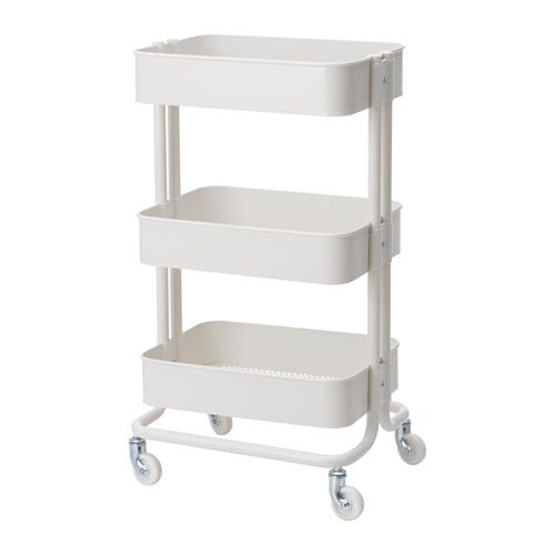 IKEA RÅSKOG Trolley White 35x45 cm The sturdy construction and four castors make it easy for you to move the trolley and use it wherever you like. It...