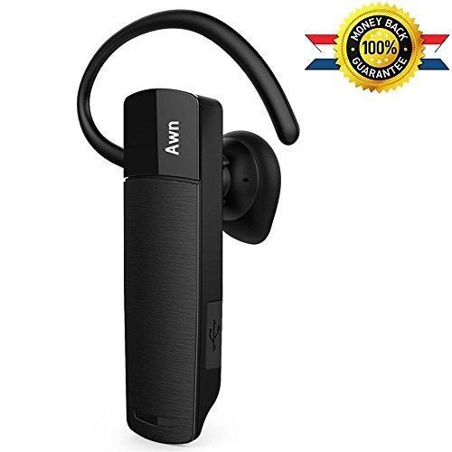 AWN Lightweight Noise Cancelling Bluetooth Wireless Headset v4.1