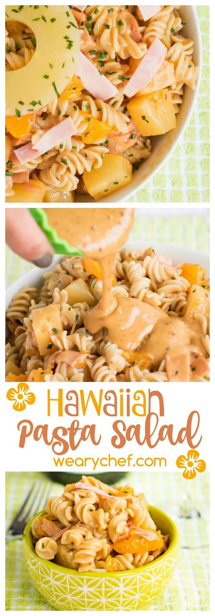 This sweet, tart, and savory Hawaiian Pasta Salad is a perfect grilling side dish recipe!