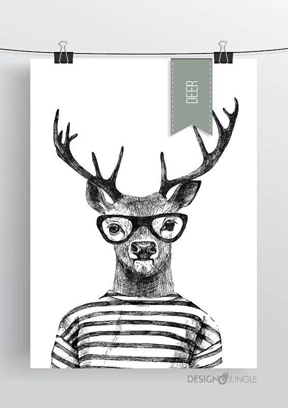 Oh Deer!Prachtig poster voor op de (kinder)kamer!Afmeting: 50 x 70De posters passen in de standaard lijsten van Ikea.
