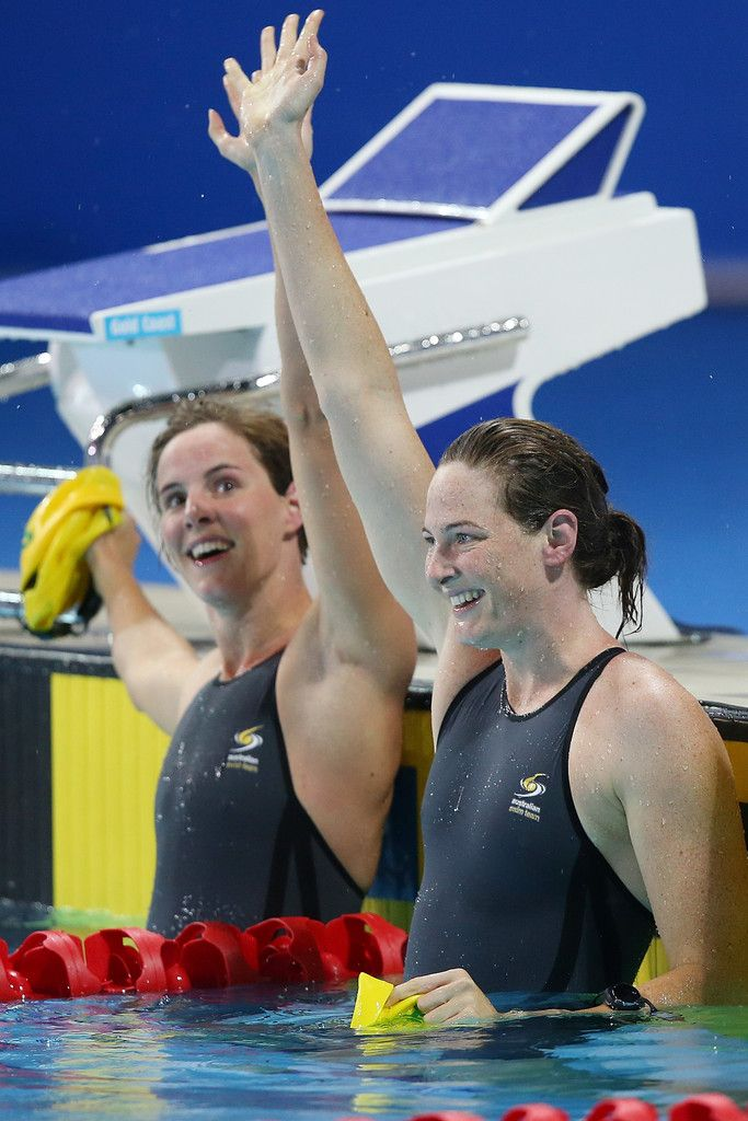 Cate Campbell (R) and Bronte Campbell (L)