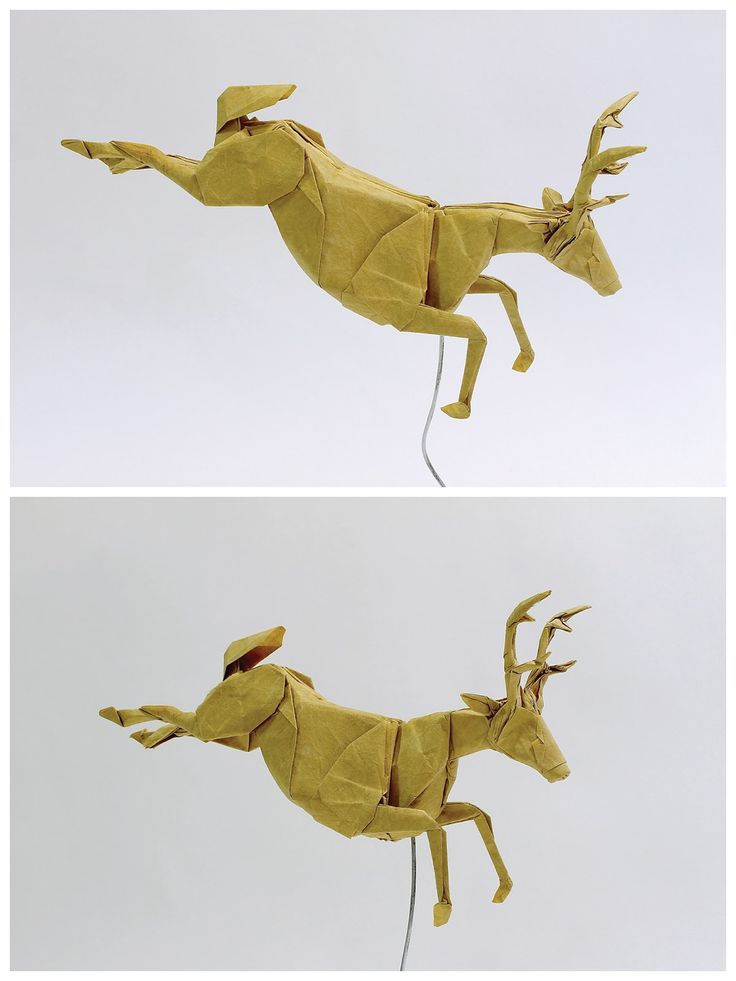 Origami Deer by Seth Friedman + tutorial: https://www.youtube.com/watch?v=dTQWPSWv7s8&t=1s