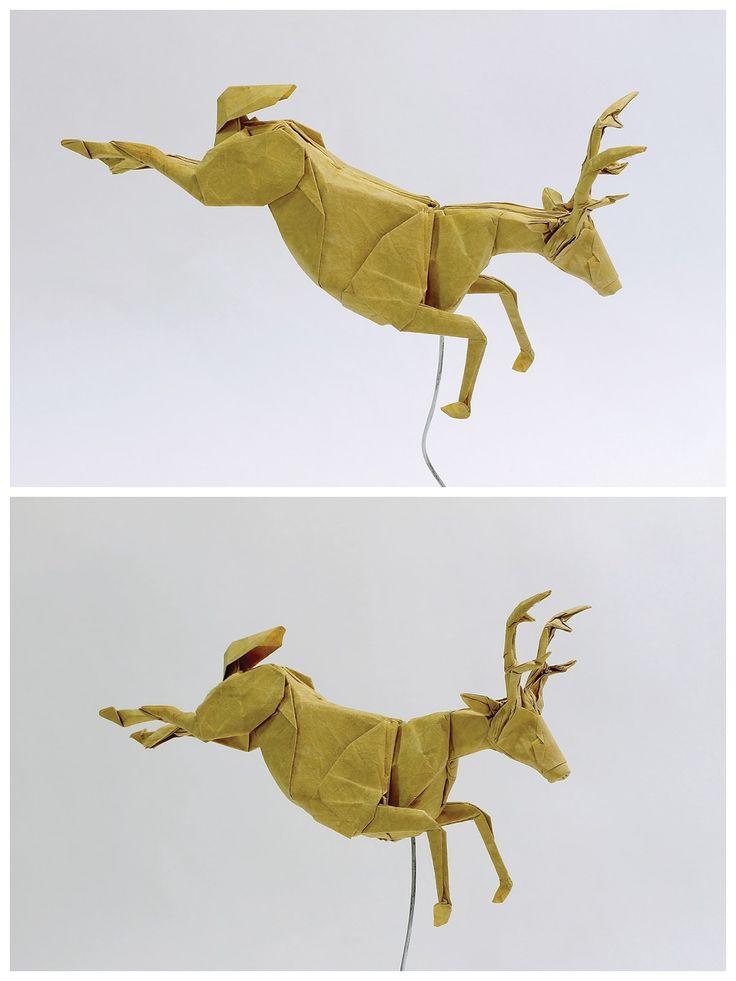 Origami Deer by Seth Friedman + tutorial: https://www.youtube.com/watch?v=dTQWPSWv7s8&t=1s
