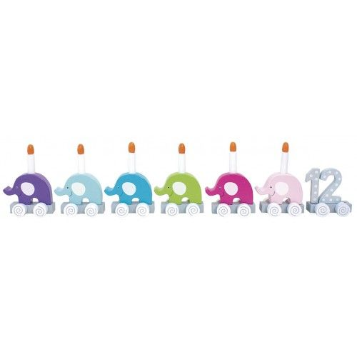 Geburtstagszug Elefanten aus Holz Spielzeug