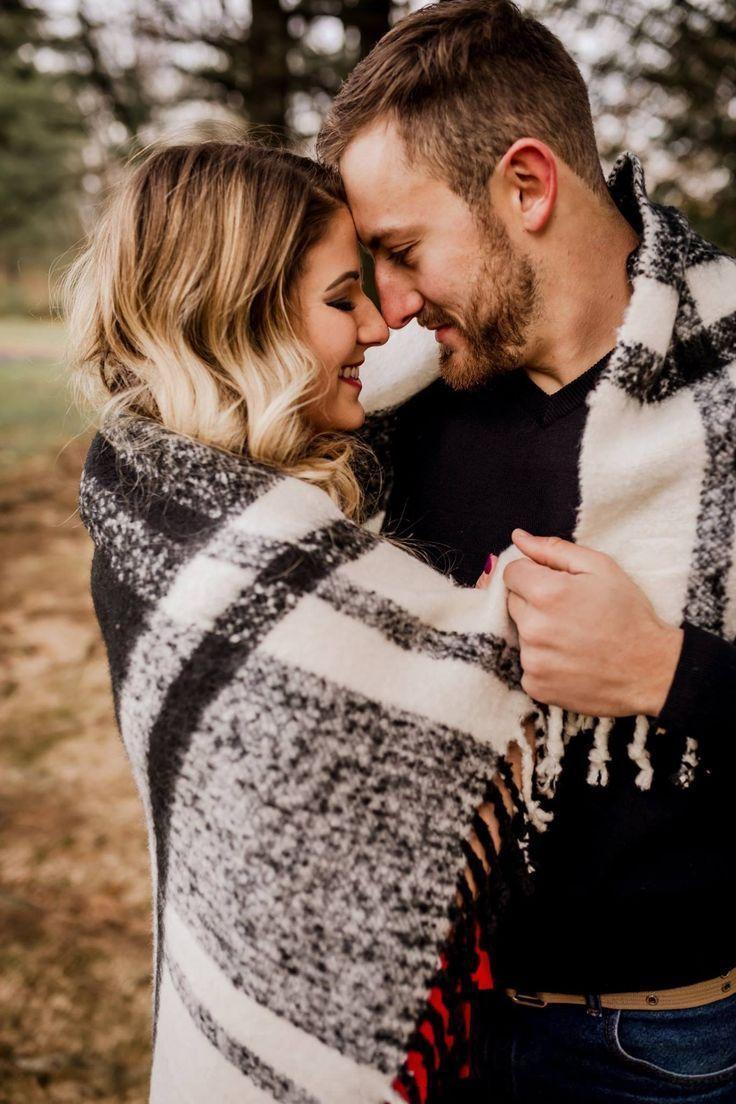 Engagement photos. Love. Engagement photo ideas. Blanket. Couple. Relationship g…