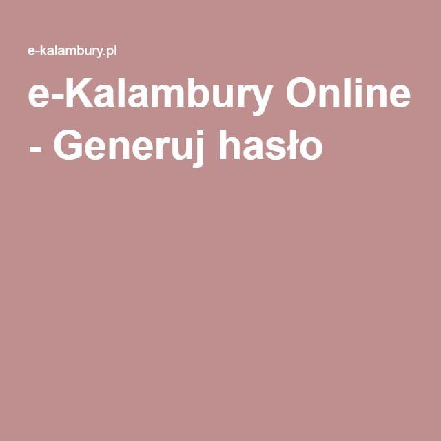 e-Kalambury Online - Generuj hasło