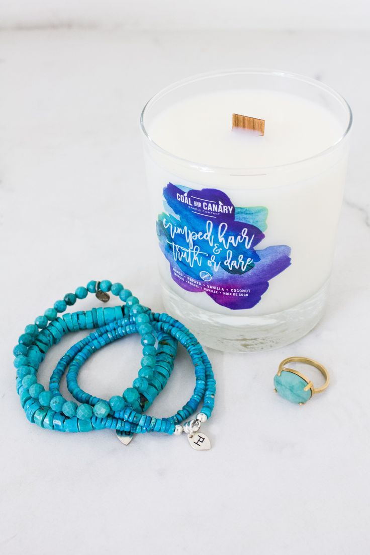 Add some glam to girls night with Coal and Canary candles and Hilary Druxman gemstone bling to match!