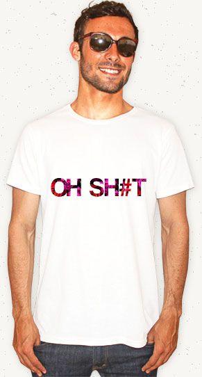 "Camiseta ""Oh Sh#t"" // Garanta a sua: http://bit.ly/1tZu2Vy  #ohshut #badword #tshirt #camiseta #fashion #woman #floral"