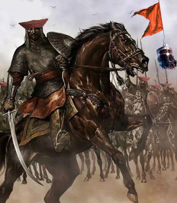 Maratha Cavalry in battlefield