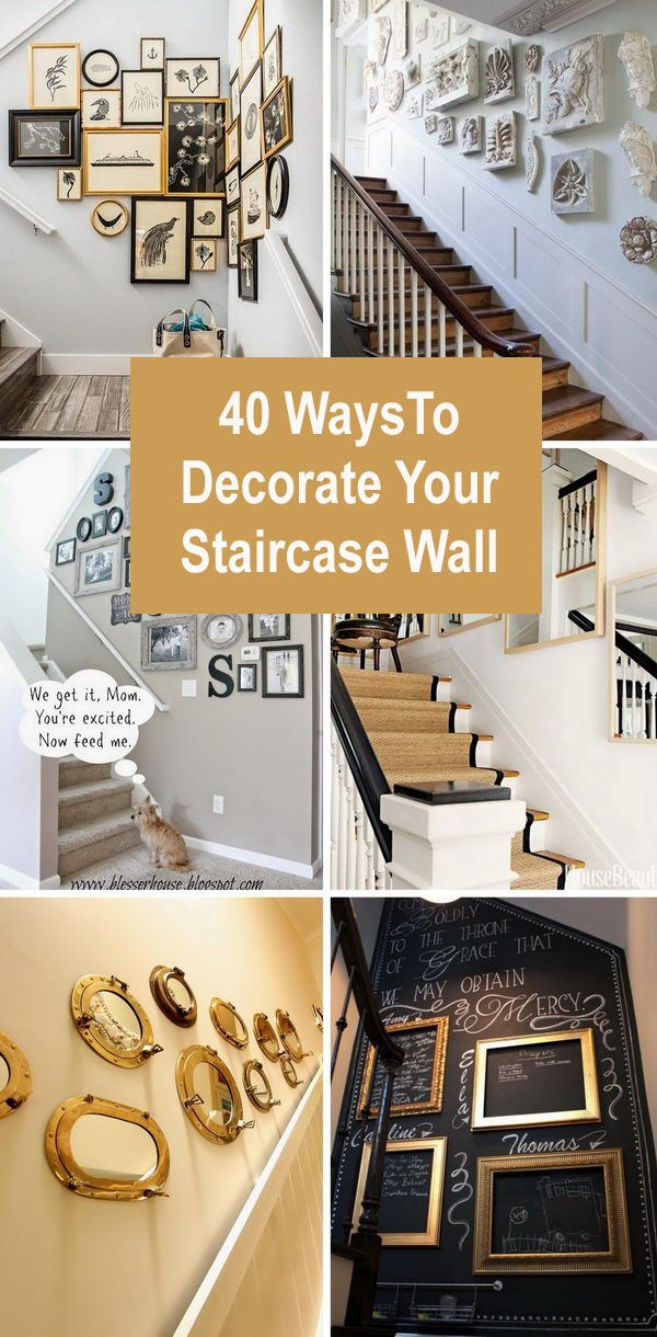 40 Ways To Decorate Your Staircase Wall Decorating Stairway Walls Staircase Wall Decor Staircase Wall