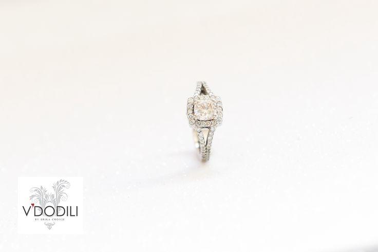 Diamonds set in Palladium.