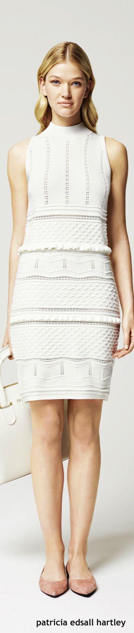 Escada Resort 2016. White dress. women fashion outfit clothing style apparel @roressclothes closet ideas
