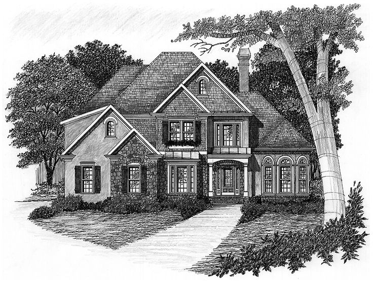 eplans french country house plan stone and stucco cottage 2256 square feet and 3 bedrooms. Black Bedroom Furniture Sets. Home Design Ideas