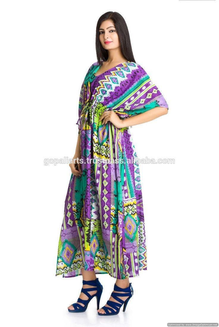 Индийский макси длинное платье икат напечатан пляж бохо сексуальные бикини кимоно рукава Большой размер хиппи платья женщин платье