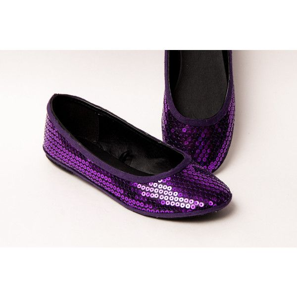 Sequin Plum Purple Slipper Ballet Flats Shoes by Princess Pumps ($40) ❤ liked on Polyvore featuring shoes, ballet shoes, grey, slip ons, women's shoes, slip-on shoes, plum shoes, gray shoes, purple ballet shoes and ballerina shoes