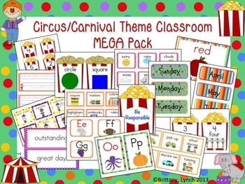 This colorful Circus/Carnival Theme Classroom MEGA Pack will get your classroom all ready for the school year!