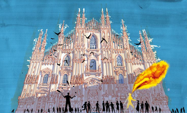"The duomo - Milano from ""I am Milan"", illustration book by Carlo Stanga - Moleskine"