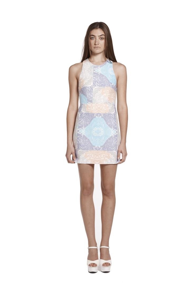 hypnotic haze mini dress