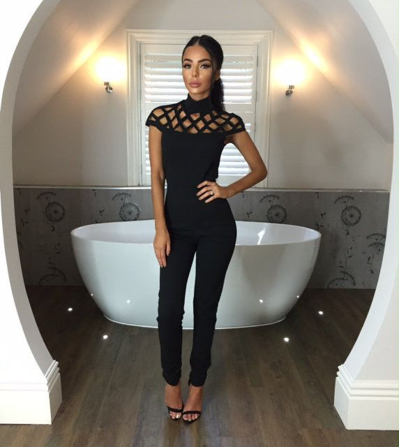 Elina High-Neck Jumpsuit - This chic jumpsuit is only $34.99 + Free Shipping! #love #jumpsuits #cutout