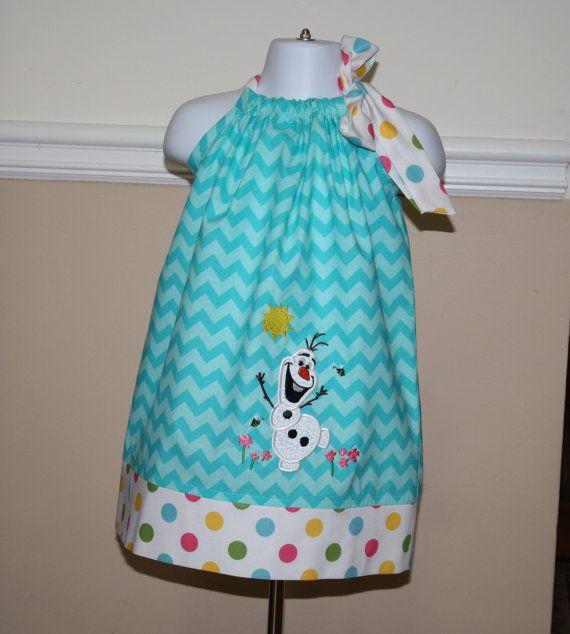 Frozen Olaf 2 snowman pillowcase dress birthday by BlakeandBailey, $30.00