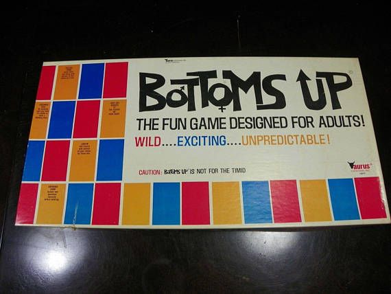 Vintage Bottoms Up Adult Board Game  FREE SHIPPING