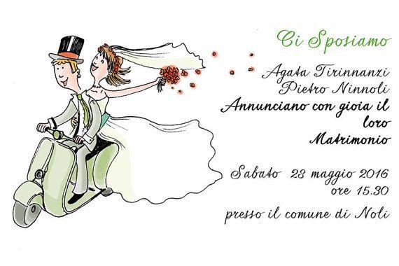 Partecipazioni di Matrimonio in Vespa!