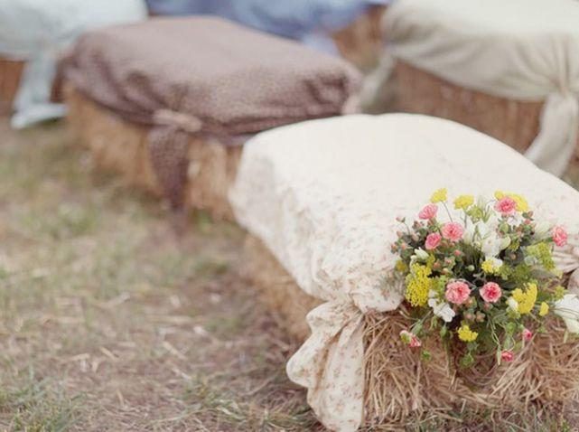 customiser siege foin bottes de foin mariage champetre campagne