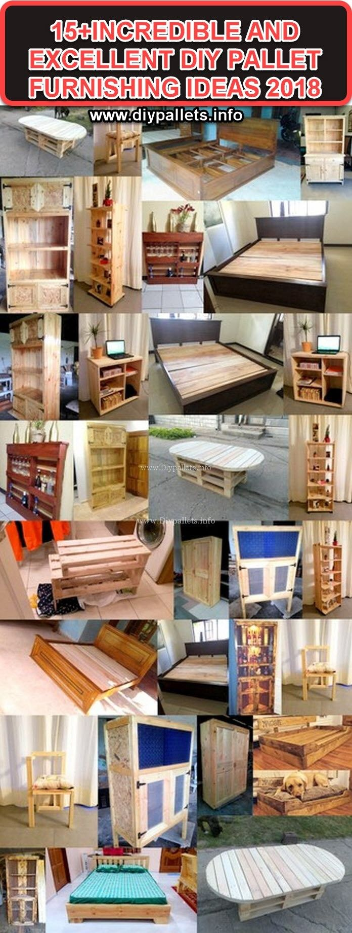 15INCREDIBLE AND EXCELLENT DIY PALLET FURNISHING IDEAS