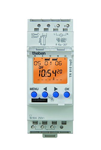 Theben – TR 610 TOP2 – Horloge programmable digitale: Horloge programmable digitale avec programme hebdomadaire 1 canal pour 2 conducteurs…