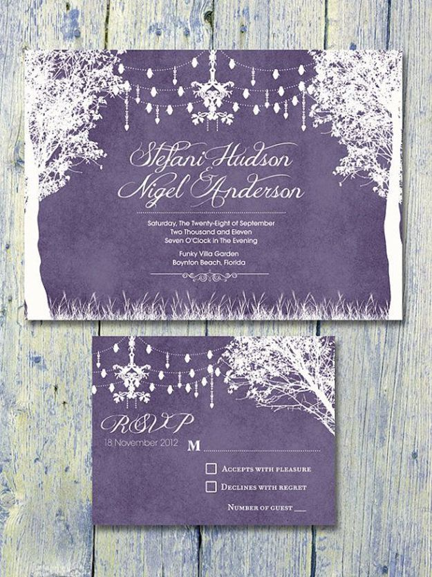 reply to wedding invitation m%0A In the Winter Garden Wedding Invitation and Reply Card Set  Wedding  Stationery