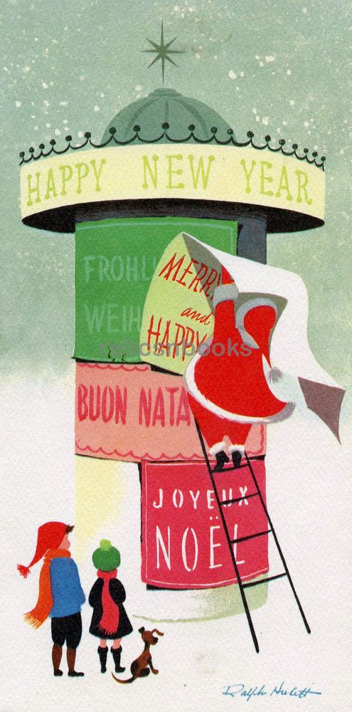 433 california artists mid century santa vintage christmas card greeting greeting cards vintage christmas pinterest christmas vintage christmas