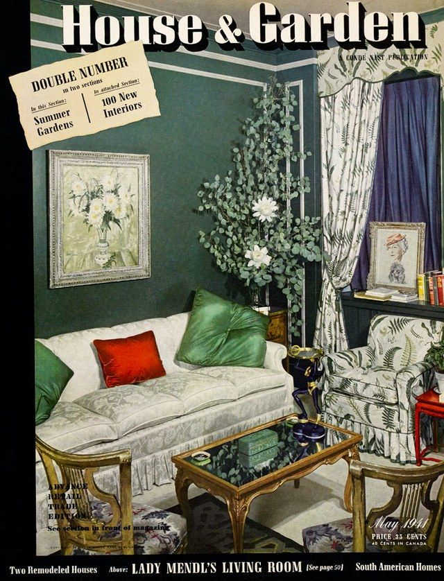 Lady Mendl's St. Regis hotel suite, on House & Garden's May 1941 cover.