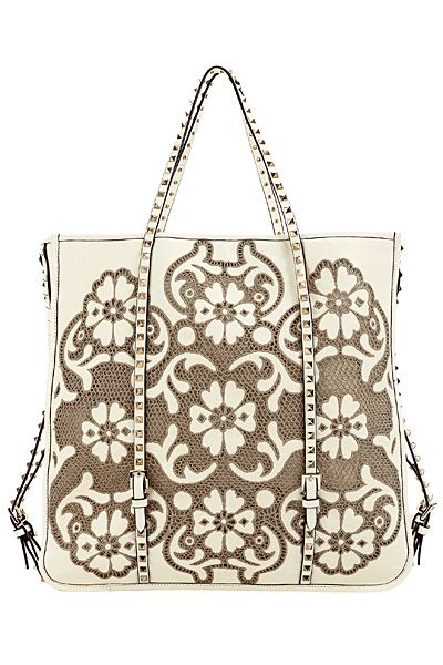 Valentino - Women's Bags - 2012 Spring-Summer. Lace design in leather