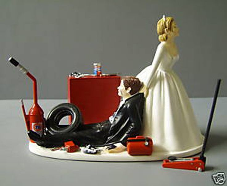 Drag Racing Wedding Cake Topper