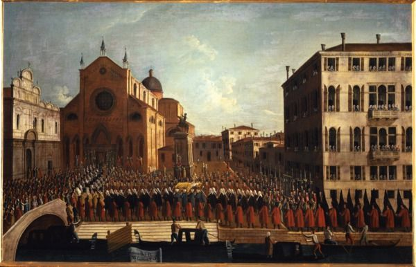 """""""I funerali del Doge ai SS. Giovanni e Paolo"""", 1779?-1792 #gabrielbella #querinistampalia"""