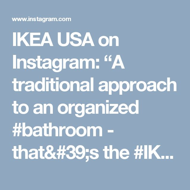"""IKEA USA on Instagram: """"A traditional approach to an organized #bathroom - that's the #IKEA HEMNES bathroom series! Link in profile to shop."""" • Instagram"""