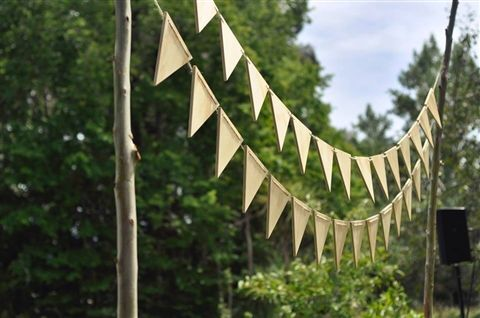 Cute wooden bunting!