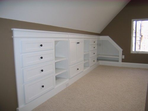 perfect cabinets for attic space