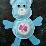 Paper Plate Care Bear
