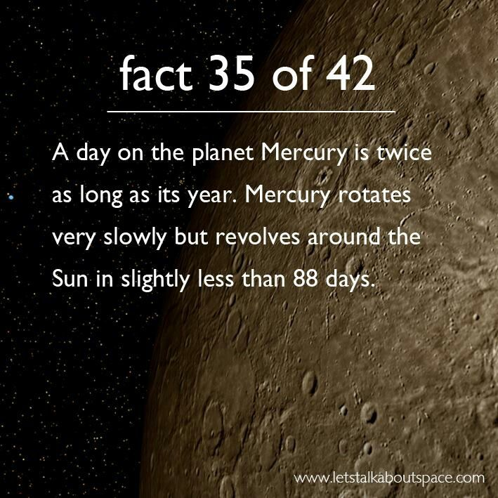 If I lived on Mercury, just might get everything accomplished on my daily list!