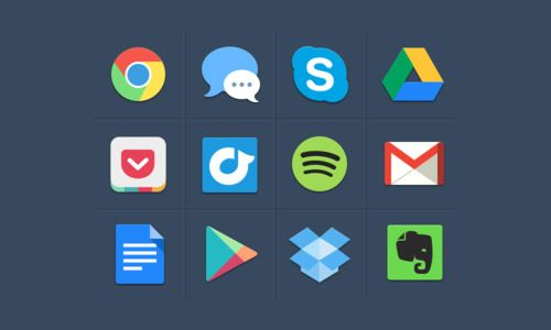 40 Beautiful Flat Icon Sets For Web UI Design